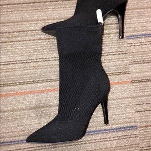 Black Sock Heels  Size 6.5 US/CAD